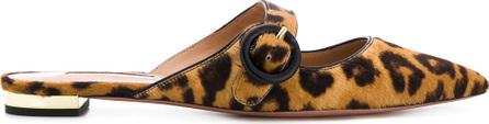 Aquazzura Leopard print slippers