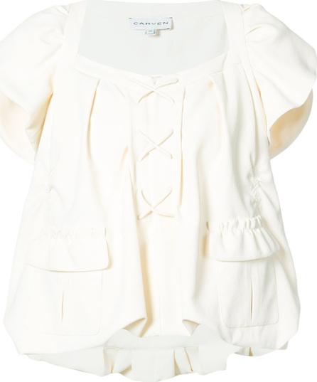 Carven Pocket front peplum style blouse