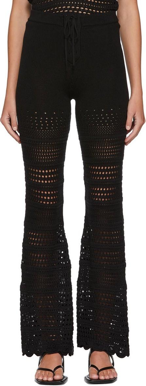 Amiri Black Checkered Crochet Flare Lounge Pants