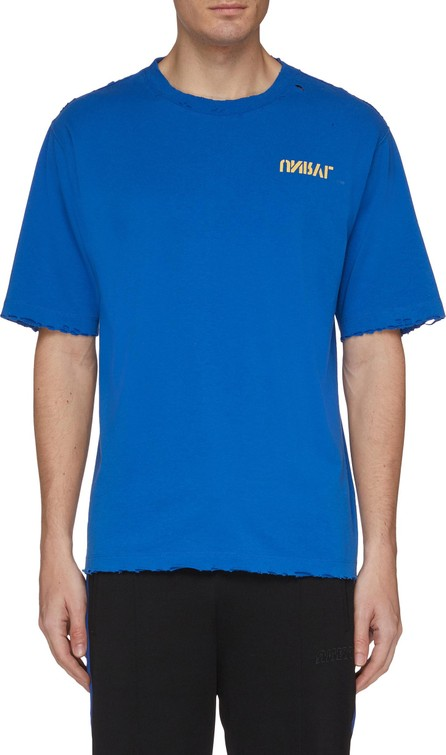 Ben Taverniti Unravel Project Logo skull print distressed boxy T-shirt