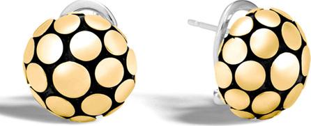 John Hardy Dot Gold/Silver Domed Stud Earrings