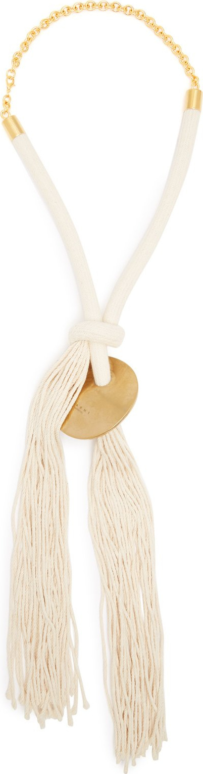 Marni Rope and gold disc necklace