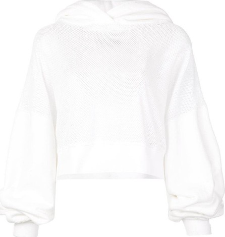 Amiri cropped mesh hoodie