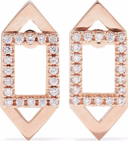 Astrid & Miyu 18-karat rose gold-tone plated crystal earrings