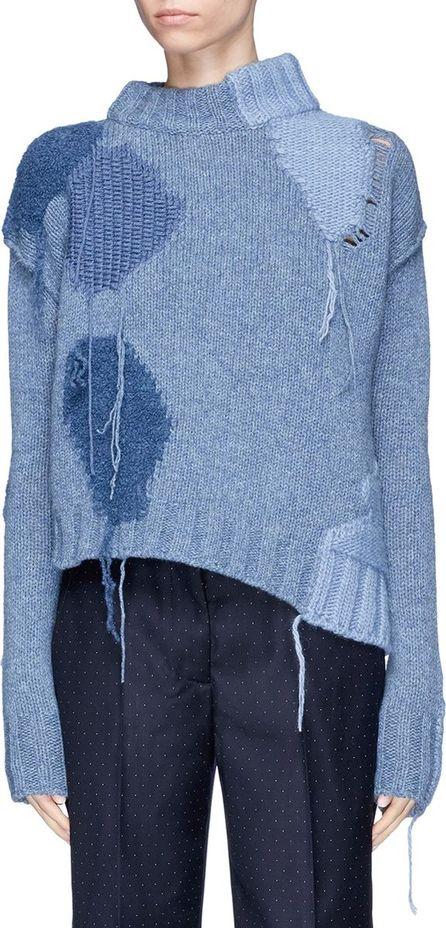 Acne Studios 'Ovira' fringe intarsia patch sweater