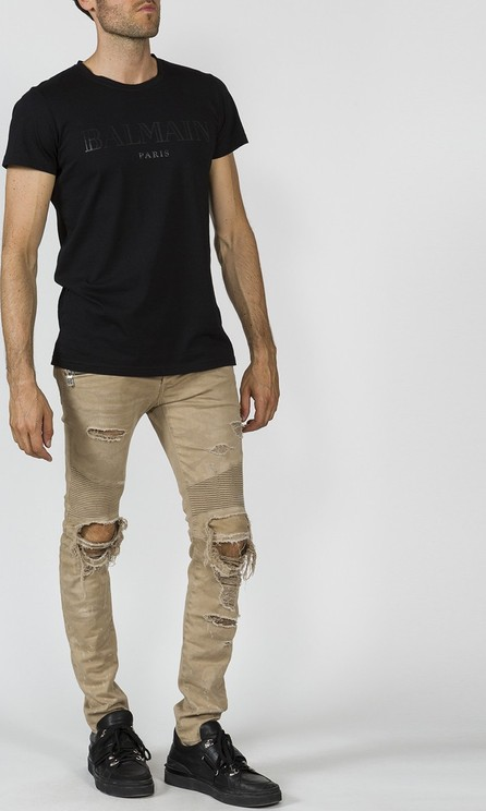 Balmain destroyed effect pants