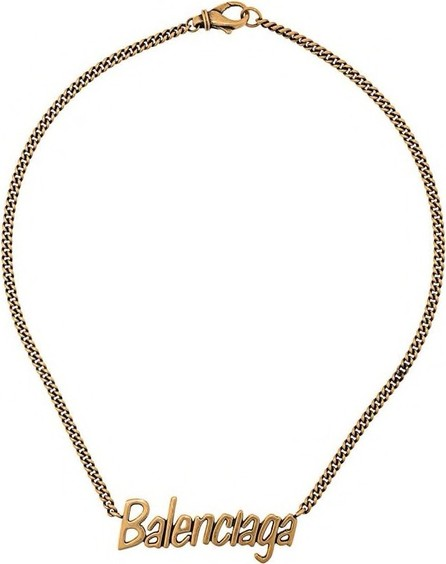 Balenciaga Gold Logo Necklace