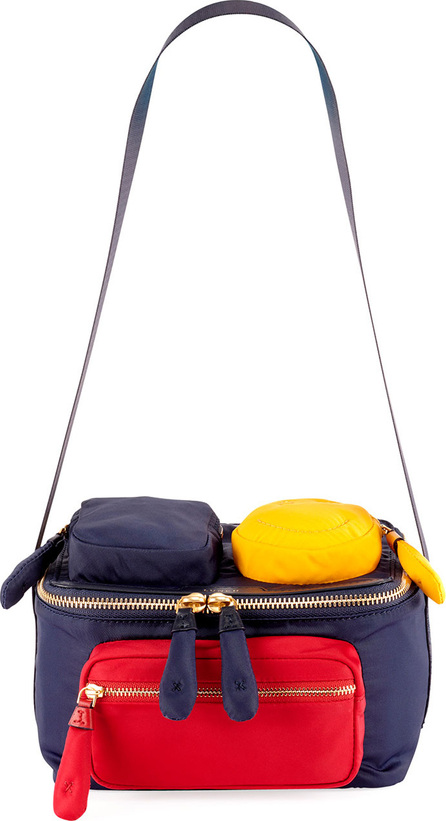 Anya Hindmarch Colorblock Multi-Pocket Lunch Box Bag