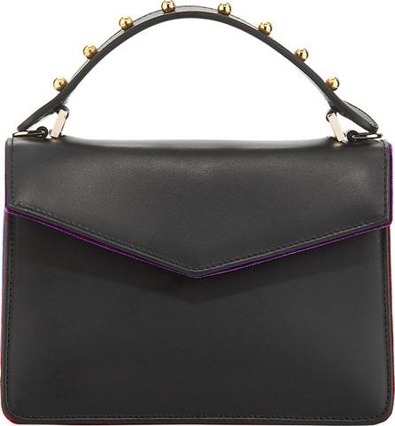 Les Petits Joueurs Pixie Mini Leather & Velvet Satchel Bag