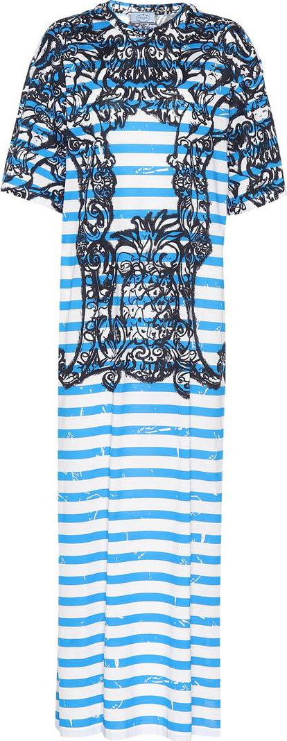 Prada Printed cotton maxi dress