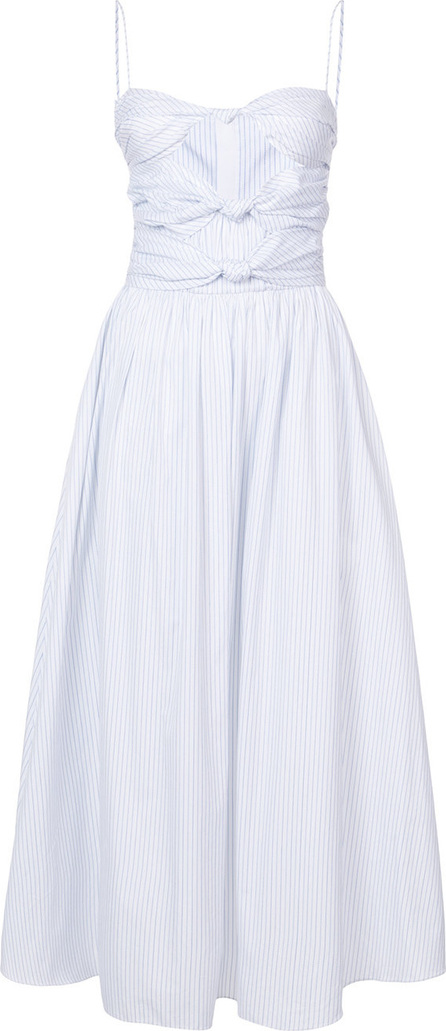 Adam Lippes Knotted front striped dress