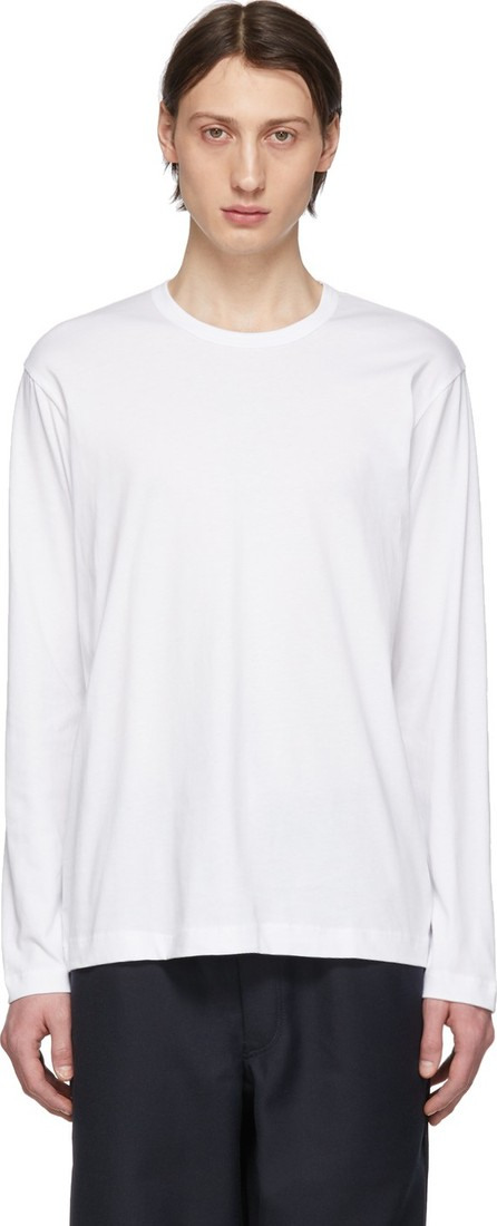 Comme Des Garcons White Logo Long Sleeve T-Shirt
