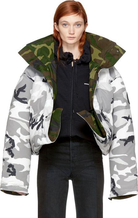 Vetements Reversible Grey Camouflage Canada Goose Edition Parka