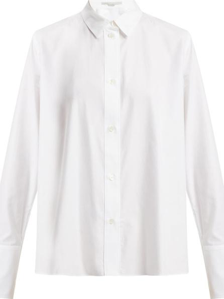 Stella McCartney Oversized cuff cotton shirt