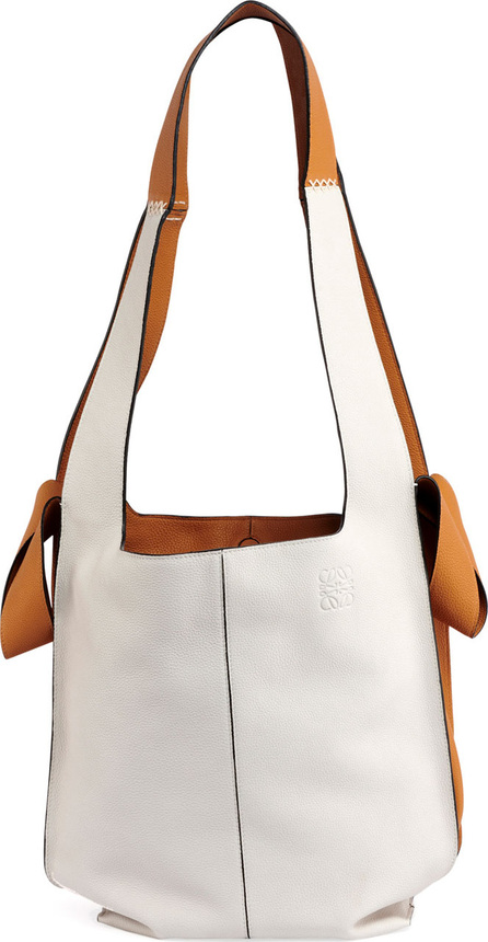 LOEWE Colorblock Leather Hobo Tote Bag