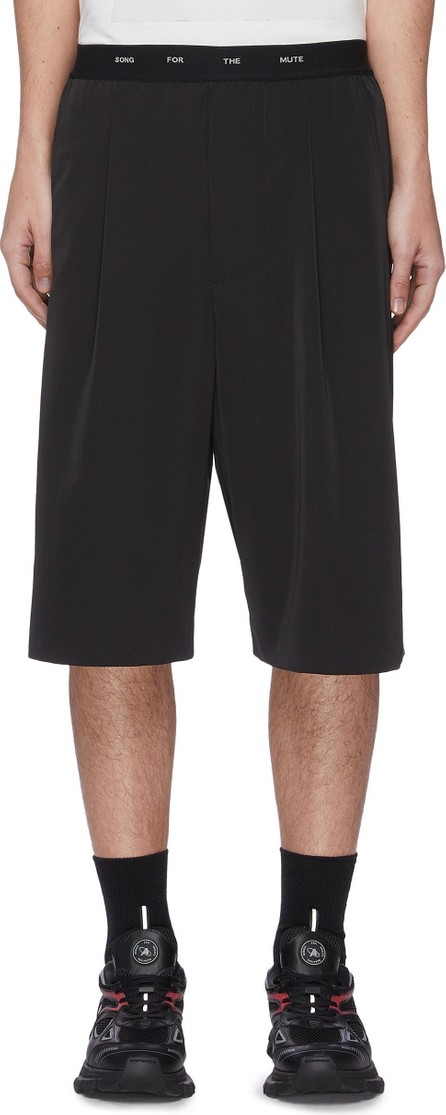 Song for the Mute Logo print elasticated waist darted shorts