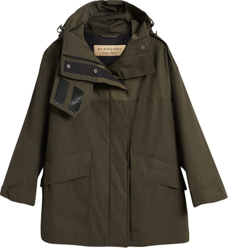 Burberry London England Hooded Parka with Quilted Lining