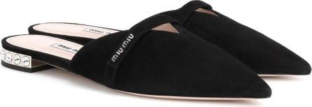 Miu Miu Suede slippers