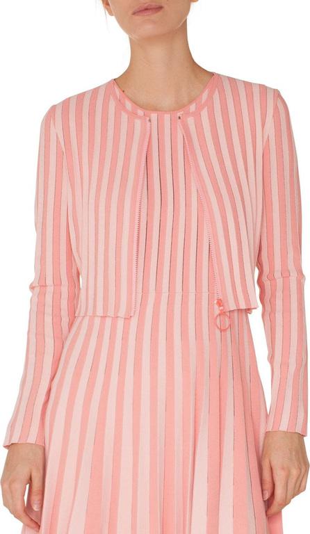 Akris Punto Zip-Front Long-Sleeve Striped Knit Cropped Bolero