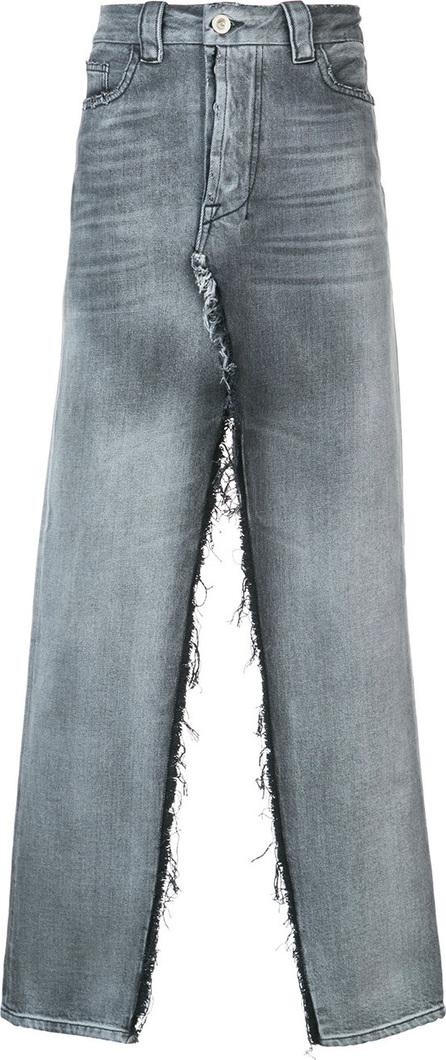 Ben Taverniti Unravel Project Denim front slit skirt