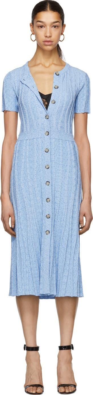 Altuzarra Blue Knit Abelia Dress