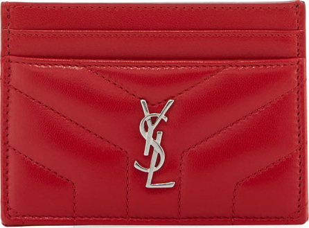 Saint Laurent Loulou Quilted Leather Card Case