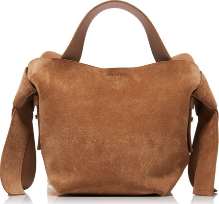 Acne Studios Musubi Mini Knotted Suede Shoulder Bag