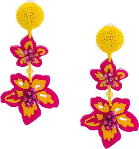 Sachin & Babi Beaded floral earrings