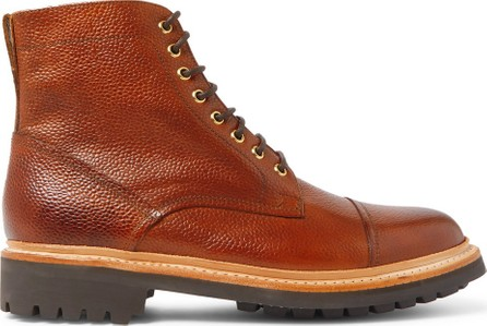 Grenson Joseph Cap-Toe Burnished-Leather Boots