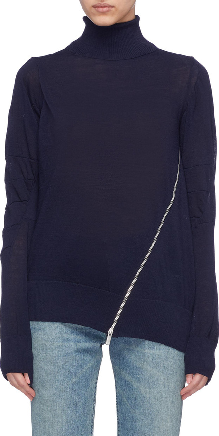 Sacai Slant zip turtleneck sweater