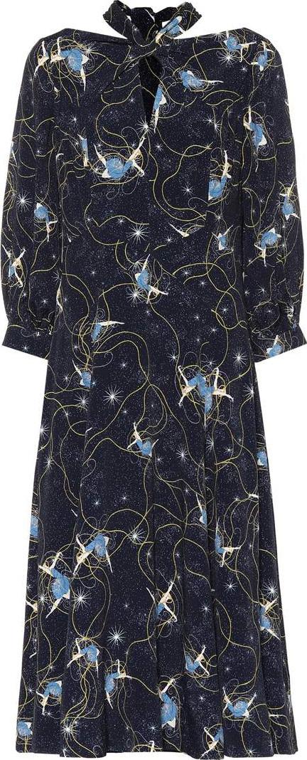 Erdem Zelena floral-printed dress