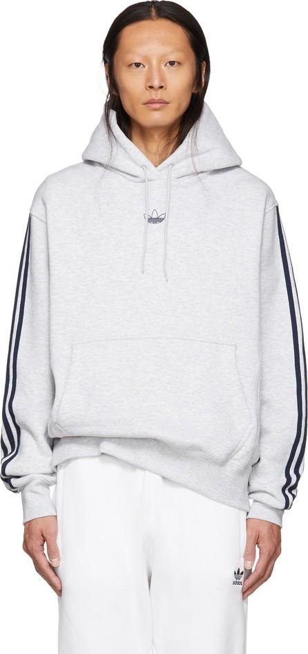 Adidas Originals Grey Fleece Off Court Basketball Hoodie