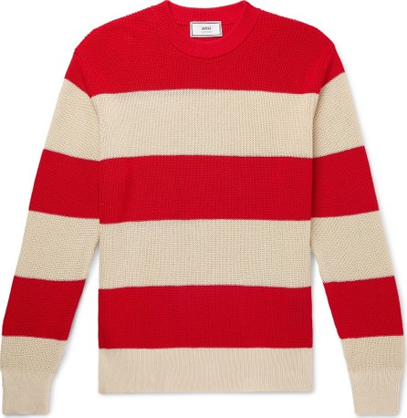 AMI Striped Cotton Sweater