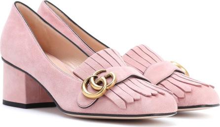 Gucci Suede loafer pumps