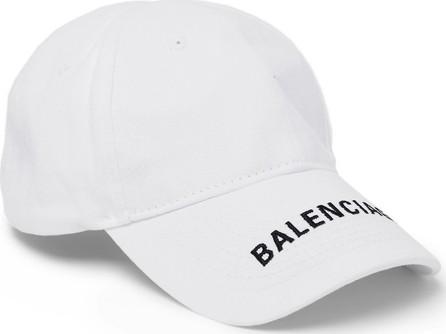 Balenciaga Logo-Embroidered Cotton-Twill Baseball Cap