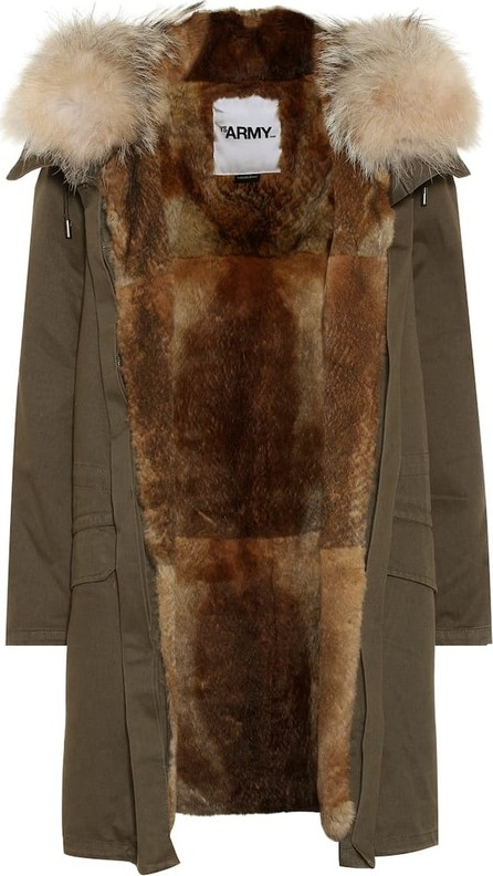 Army By Yves Salomon Fur-trimmed cotton parka