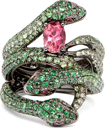 Lynn Ban Garden of Eden tsavorite & rhodium ring