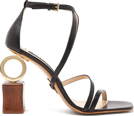 Jacquemus Samba ornamental-heel leather sandals
