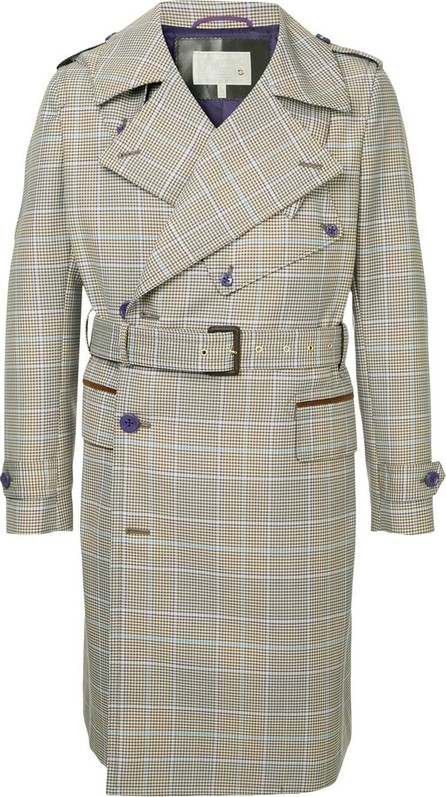 A(Lefrude)E Checked trench coat