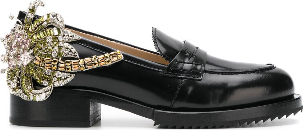 crystal patch chunky loafers - Black N eKAv91ZDuA