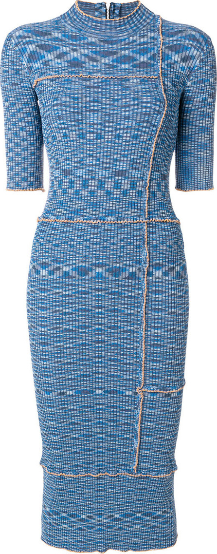 House Of Holland Ribbed fitted dress