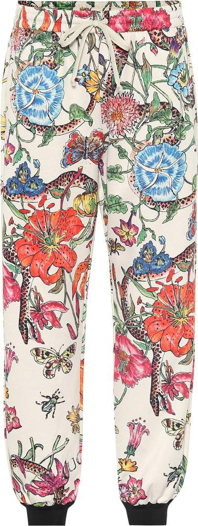 Gucci Printed jersey pants