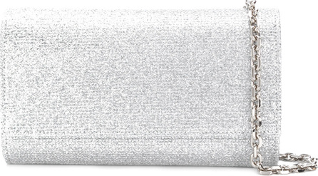 Casadei Envelope glitter clutch bag