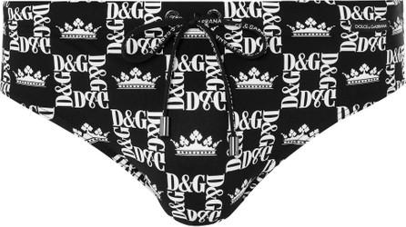 Dolce & Gabbana Logo-Print Swim Briefs