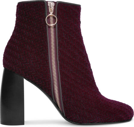 Stella McCartney Woven faux suede ankle boots