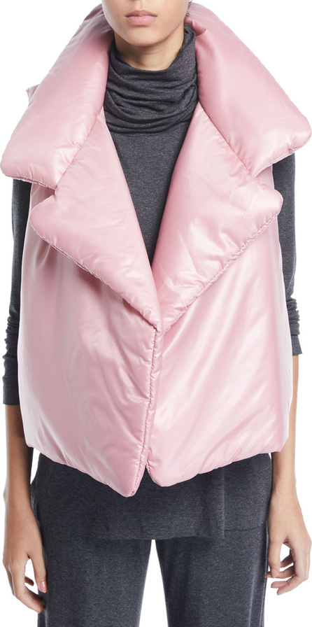 Norma Kamali Sleeping Bag Open-Front Puffer Vest
