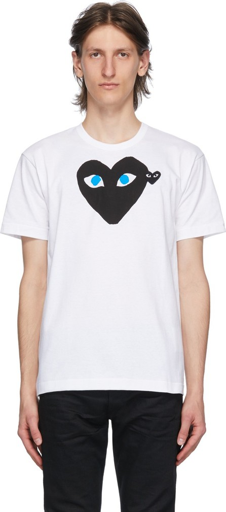 Comme Des Garcons PLAY White & Black Big Heart T-Shirt