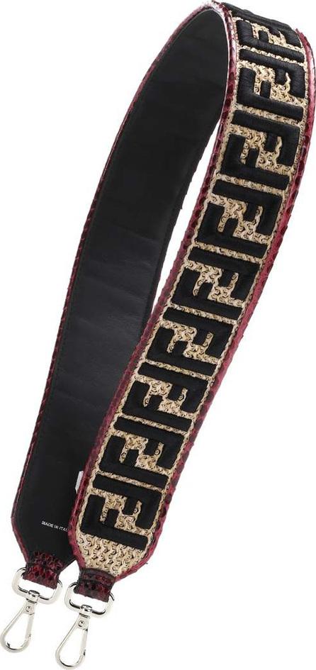 Fendi Raffia and snakeskin bag strap