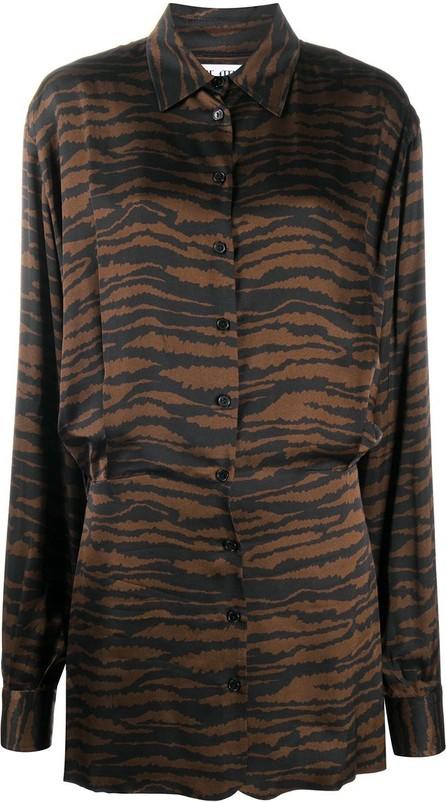 The Attico Gigi zebra-print shirt dress