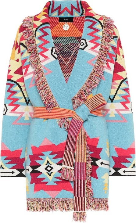 Alanui Jacquard cashmere-blend cardigan